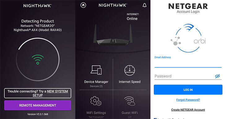 create a Netgear account through Nighthawk App