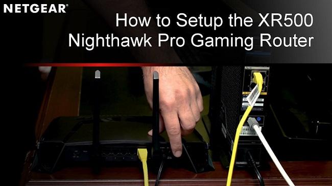 Nighthawk Pro Gaming XR500 Setup