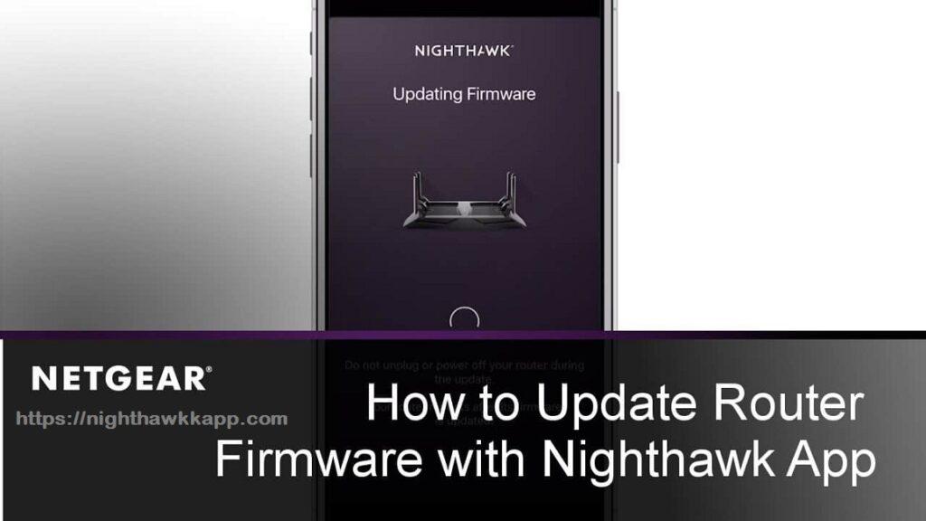 Netgear Extender's Firmware update using nighthawk app-min
