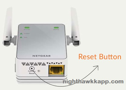 netgear extender factory reset button