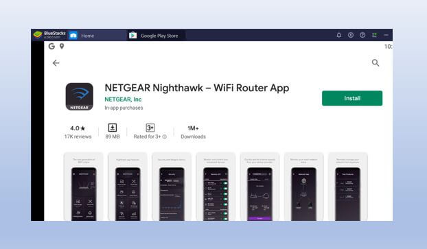 Download and install the Nighthawk app for PC